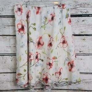 J.Jill/ Floral Cotton Skirt/ X-Large